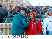 Biathlon aus einer anderen Perspektive: Ex-Coach Uwe Müßiggang mit... Стоковое фото, фотограф Zoonar.com/Joachim Hahne / age Fotostock / Фотобанк Лори