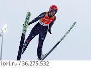 Svenja Würth (SV Baiersbronn) beim Sprung, wenig später kommt die... Стоковое фото, фотограф Zoonar.com/Joachim Hahne / age Fotostock / Фотобанк Лори