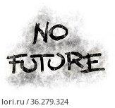 No future tag im grunge look - illustration. Стоковое фото, фотограф Zoonar.com/jörg röse-oberreich / easy Fotostock / Фотобанк Лори