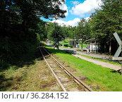 Schienen, Moorbahn, Schmalspur, Bad Schwalbach. Стоковое фото, фотограф Zoonar.com/Manfred Ruckszio / easy Fotostock / Фотобанк Лори
