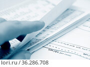 Stock market graphs and charts analysis. Стоковое фото, фотограф Zoonar.com/Andrey Malinkin / easy Fotostock / Фотобанк Лори