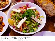 Turkish traditional choban salad. Стоковое фото, фотограф Яков Филимонов / Фотобанк Лори