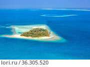 Insel Malediven Urlaub Paradies Meer Embudu Resort Luftbild Tourismus. Стоковое фото, фотограф Zoonar.com/Markus Mainka / easy Fotostock / Фотобанк Лори