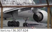 Rear view, aircraft acceleration (2016 год). Редакционное видео, видеограф Игорь Жоров / Фотобанк Лори
