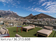 Stadtpanorama von Dachterrasse. Стоковое фото, фотограф Zoonar.com/Guenter Lenz / age Fotostock / Фотобанк Лори