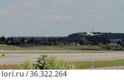 Airbus Aeroflot approaching landing. Редакционное видео, видеограф Игорь Жоров / Фотобанк Лори