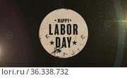 Image of labor day text on black background. Стоковое фото, агентство Wavebreak Media / Фотобанк Лори