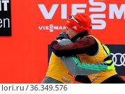 Versöhnung: Die Team-Weltmeister Johannes Rydzek (Oberstdorf) und... Стоковое фото, фотограф Zoonar.com/Joachim Hahne / age Fotostock / Фотобанк Лори