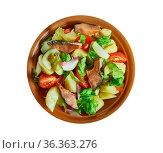 Palermo smoked trout sicilian salad - Insalata di mare - robust Sicilian... Стоковое фото, фотограф Zoonar.com/alexander mychko / easy Fotostock / Фотобанк Лори