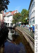 Fischerviertel, gerberviertel, kanal, dreisam, altstadt, altstadtgasse... Стоковое фото, фотограф Zoonar.com/Volker Rauch / easy Fotostock / Фотобанк Лори