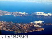 Anflug auf Palma de Mallorca, die Ferienninsel. Стоковое фото, фотограф Zoonar.com/Joachim Hahne / age Fotostock / Фотобанк Лори