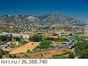 Mijas In Malaga, Andalusia, Spain. Summer Cityscape. Стоковое фото, фотограф Ryhor Bruyeu / easy Fotostock / Фотобанк Лори
