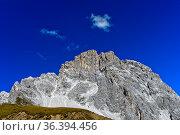 Sulzfluh Gipfel, Rätikon, St. Antönien, Prättigau, Graubünden, Schweiz... Стоковое фото, фотограф Zoonar.com/Pant / easy Fotostock / Фотобанк Лори