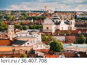 Vilnius, Lithuania. View Of Dominican Church Of Holy Spirit In Old... Стоковое фото, фотограф Ryhor Bruyeu / easy Fotostock / Фотобанк Лори