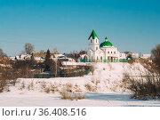 Gomel, Belarus. Church Of St Nicholas The Wonderworker And Frozen... Стоковое фото, фотограф Ryhor Bruyeu / easy Fotostock / Фотобанк Лори