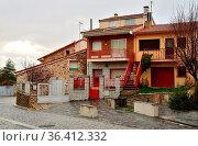 Buildings of Garganta de los Montes, Madrid, Spain. Стоковое фото, фотограф Pablo Méndez / age Fotostock / Фотобанк Лори