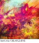 Mixed Media, erdfarbene, gedämpft farbige Texturen, Linien- und Strichformen... Стоковое фото, фотограф Zoonar.com/rieger wolfgang / easy Fotostock / Фотобанк Лори