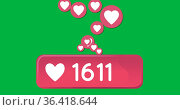 Heart icon and numbers 4k. Стоковое фото, агентство Wavebreak Media / Фотобанк Лори