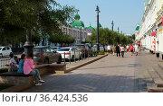 Город Омск, Любинский проспект (2019 год). Редакционное фото, фотограф Виктор Топорков / Фотобанк Лори
