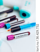 Testing the laboratory sample of the novel Coronavirus. Стоковое фото, фотограф Zoonar.com/Tomas Anderson / easy Fotostock / Фотобанк Лори