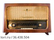 Alter DDR Rundfunkempfänger der Marke Stassfurt, ostdeuter Radioapparat... Стоковое фото, фотограф Zoonar.com/Maurice Tricatelle / easy Fotostock / Фотобанк Лори