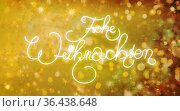 Weihnachts-Schriftzug auf Lichter-Sterne-Textur für ein zauberhaftes... Стоковое фото, фотограф Zoonar.com/rieger wolfgang / easy Fotostock / Фотобанк Лори