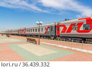 Railway station in the city of Biysk in Altai. Редакционное фото, фотограф Дмитрий Тищенко / Фотобанк Лори