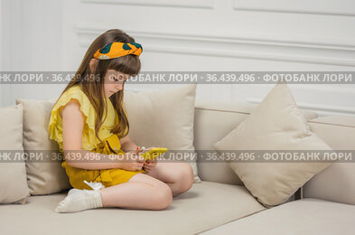 Girl sitting with phone