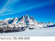 Dolomities Dolomiti Italy in wintertime beautiful alps winter mountains... Стоковое фото, фотограф Zoonar.com/Mikhailova Liubov / easy Fotostock / Фотобанк Лори