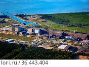 Nuclear power station near baltic sea. Стоковое фото, фотограф Zoonar.com/Stefan Dinse / easy Fotostock / Фотобанк Лори
