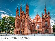 Vilnius, Lithuania. View Of Roman Catholic Church Of St. Anne And... Стоковое фото, фотограф Ryhor Bruyeu / easy Fotostock / Фотобанк Лори
