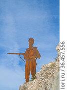 Silhouette eines Soldaten zur Zeit des Gebirgskrieges 1914 - 1918... Стоковое фото, фотограф Zoonar.com/Eder Christa / easy Fotostock / Фотобанк Лори