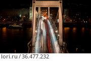 Brücke in Budapest in der Rush hour. Стоковое фото, фотограф Zoonar.com/WSF / easy Fotostock / Фотобанк Лори