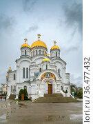 Transfiguration Cathedral in Saint Seraphim-Diveyevo Monastery, Russia. Стоковое фото, фотограф Zoonar.com/Boris Breytman / easy Fotostock / Фотобанк Лори