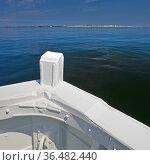 Blick aus einem Borteboot auf die Nordsee und den Suedstrand der ... Стоковое фото, фотограф Zoonar.com/Stefan Ziese / age Fotostock / Фотобанк Лори