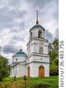 Church of the Transfiguration in Plyos, Russia. Стоковое фото, фотограф Zoonar.com/Boris Breytman / easy Fotostock / Фотобанк Лори