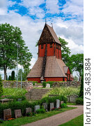 Gamla Uppsala, Sweden - 24 June, 2021: the historic old church in... Стоковое фото, фотограф Zoonar.com/Nando Lardi / easy Fotostock / Фотобанк Лори