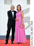Alberto Barbera, Julia Barbera , Opening Ceremony, 78th Venice International... Редакционное фото, фотограф AGF/Maria Laura Antonelli / age Fotostock / Фотобанк Лори