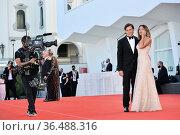Serena Rossi, Davide Devenuto , Opening Ceremony, 78th Venice International... Редакционное фото, фотограф AGF/Maria Laura Antonelli / age Fotostock / Фотобанк Лори