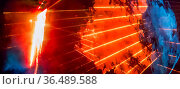 Abstract banner background with space bright colorful orange laser... Стоковое фото, фотограф Zoonar.com/Nataliya_Nazarova{} / easy Fotostock / Фотобанк Лори