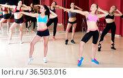 Active females dancing excited posing. Стоковое фото, фотограф Яков Филимонов / Фотобанк Лори