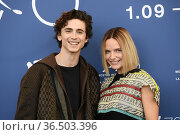 Timothee Chalamet, Rebecca Ferguson during the photocall at the 78th... Редакционное фото, фотограф Maria Laura Antonelli / AGF/Maria Laura Antonelli / age Fotostock / Фотобанк Лори