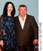 Deutscher Sportmoderator Waldemar Hartmann mit Ehefrau Petra Pöllmann... Стоковое фото, фотограф Zoonar.com/Axel Kammerer / age Fotostock / Фотобанк Лори