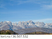 Ausblick vom Monte Palon in Richtung des Brentagebirges. Стоковое фото, фотограф Zoonar.com/Eder Christa / easy Fotostock / Фотобанк Лори