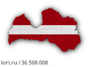 Karte und Fahne von Österreich auf altem Leinen - Map and flag of... Стоковое фото, фотограф Zoonar.com/lantapix, / easy Fotostock / Фотобанк Лори