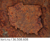 Karte von Polen auf rostigem Metall - Map of Poland on rusty metal. Стоковое фото, фотограф Zoonar.com/lantapix, / easy Fotostock / Фотобанк Лори