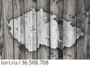 Karte von Tschechien auf verwittertem Holz - Map of Czech Republic... Стоковое фото, фотограф Zoonar.com/lantapix, / easy Fotostock / Фотобанк Лори