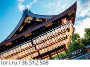 Kyoto, Japan - May 16 2019: Maidono at Yasaka-Jinja Shrine in Kyoto... Стоковое фото, фотограф Zoonar.com/Chris Putnam / easy Fotostock / Фотобанк Лори
