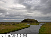 Süden, Island, hügel, berg, tafelberg, orrustuholl, südisland, gebirge... Стоковое фото, фотограф Zoonar.com/Volker Rauch / easy Fotostock / Фотобанк Лори
