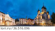 Tallinn, Estonia. Building Of Government Of Republic Of Estonia And... Стоковое фото, фотограф Ryhor Bruyeu / easy Fotostock / Фотобанк Лори
